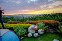 Sun rise at Khao Yai Royalty Free Stock Images