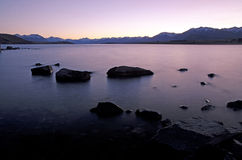 Sun rise by lake Tekapo Royalty Free Stock Image