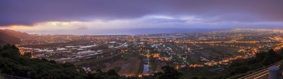 Sun rise of Lanyang Plain at Ilan Royalty Free Stock Photography