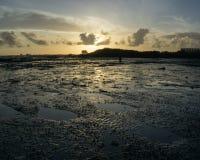 Sun rise at Mactan royalty free stock images