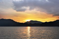 Sun rise at Mountain in Chiang Mai Thailand Royalty Free Stock Photography