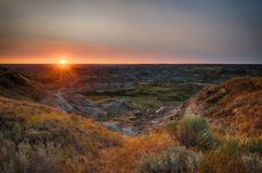 Sun rise over the hoodoos Royalty Free Stock Images