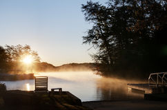 Sun Rise Over Lake Lure Royalty Free Stock Image