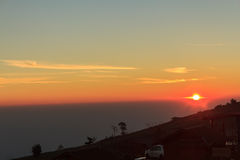 Sun rise over mountain Royalty Free Stock Image