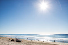 Sun rise over Surfers Paradise beachfront, Gold Coast Royalty Free Stock Images