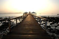 Sun rise of the sea of sanya,hainan,nanhai Royalty Free Stock Photos