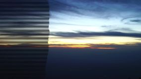 Sun rise time lapse. With cloud moving stock footage