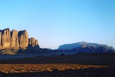 Sun Rise at Wadi Rum Royalty Free Stock Images