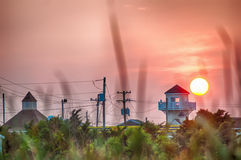 Sun rises over cape hatteras lanscapes Stock Image