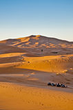 Sun rises over Erg Chebbi at Morocco Stock Photo