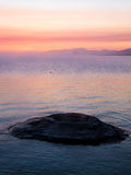 The Fishing Cone in Yellowstone Lake at Dawn Royalty Free Stock Image