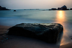 Sun rises over the gulf of Thailand Royalty Free Stock Image