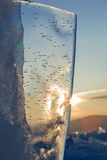 Sun rises over the ice floes. Stock Photography