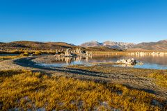 Sunrise from the South Tufa Area in Mono Lake. royalty free stock photo
