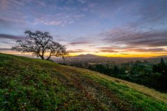 Sunrise over Mount Diablo and the East Bay stock photo