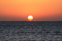 Sun Rises From The Sea Royalty Free Stock Photo