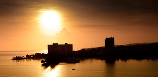 Sun Rising in Ocho Rios, Jamaica Stock Images