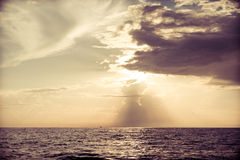 Sun rising ove Pacific ocean Stock Photo