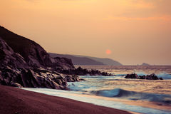 Sunrise over Slapton Sands, England Royalty Free Stock Photos