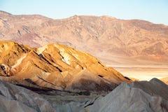Sun rising over Death Valley Royalty Free Stock Photos