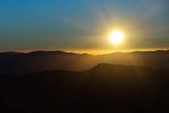 Sun rising over the Great Smoky Mountains Stock Photos