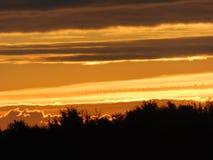 The sun rising over the Heybridge Basin royalty free stock photo
