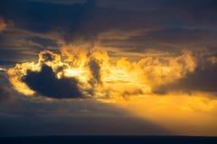 Sun rising over Inside Passage, Alaska Stock Image
