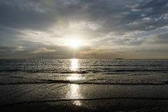Sun Rising Over Ocean Royalty Free Stock Images