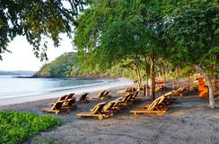 Sun rising over the Playa Blanca beach in Papagayo, Costa Rica Stock Photos