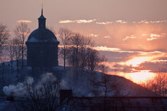 Sun rising in Pinczow Royalty Free Stock Photography