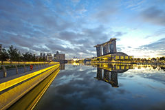Sun rising on Singapore Stock Photography