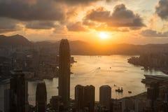 Sun rising victoria Hongkong Royalty Free Stock Photos