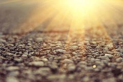 Sun and road Royalty Free Stock Photography
