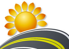 Sun and road logo Royalty Free Stock Image