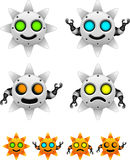 Sun robot character set Stock Photos