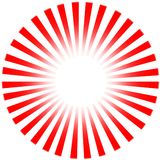 Sun rojo Ray en el fondo blanco Imagen de archivo