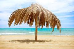 Sun Roof Beach Umbrella. Vacation Concept. Palapa Sun Roof Beach Umbrella Stock Photography