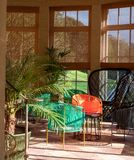 Sun room in the interior of Historic Hadspen House, now transformed into boutique hotel called The Newt in Somerset, UK.