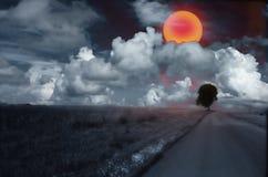 Sun rosso Fotografie Stock