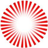 Sun rouge Ray sur le fond blanc Image stock