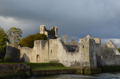 Sun on the Ruins of Desmond Castle in Ireland Royalty Free Stock Image