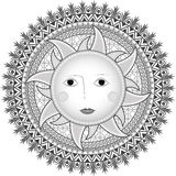Sun in Russian style Royalty Free Stock Photo