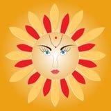Sun - russian symbol holiday spring Shrovetide Stock Photos