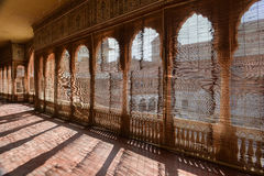 Behind the blinds of Junagarh Fort Stock Photos