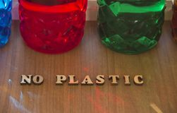 colored plastic bottles stock photography
