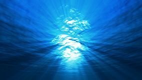The sun`s rays play under the water. Underwater light,the sun`s rays play under the water stock video footage