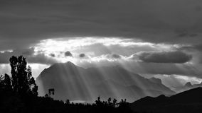 Sun'S Rays, Rays, Landscapes Royalty Free Stock Photography