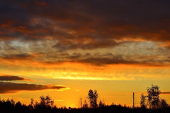 The suns rays at sunset. 2 Royalty Free Stock Image