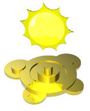 Sun's weather symbol Royalty Free Stock Photography