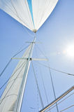 Sun in sails and mast Stock Photos